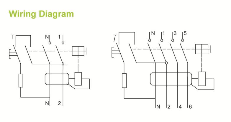 10ka new f360 type electronic 2 pole 30ma residual cruuent circuit breaker rcd sfl15-63